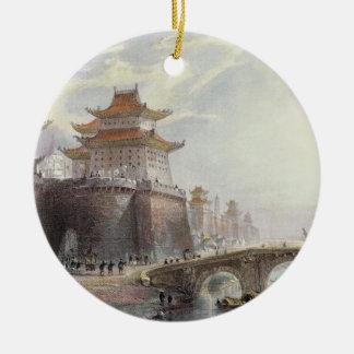 Western Gate of Peking, c.1850 (colour litho) Christmas Ornament