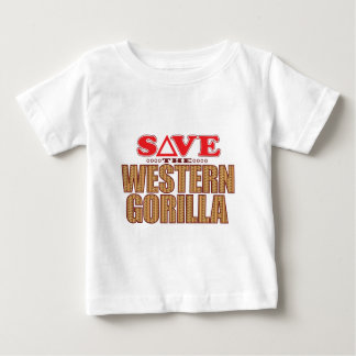 Western Gorilla Save Baby T-Shirt