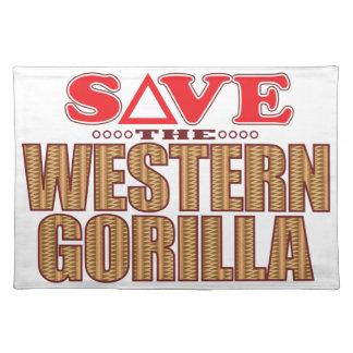 Western Gorilla Save Placemat