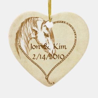 Western Heart Wedding Favor Ornament Gift