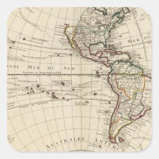 Western Hemisphere 10 Square Sticker