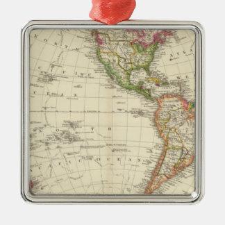 Western Hemisphere 13 Christmas Ornament