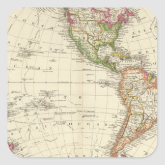 Western Hemisphere 13 Square Sticker