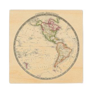 Western Hemisphere 13 Wood Coaster