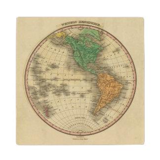 Western Hemisphere 16 Wood Coaster