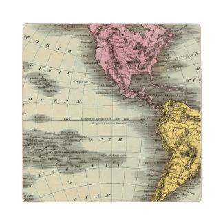 Western Hemisphere 18 Wood Coaster