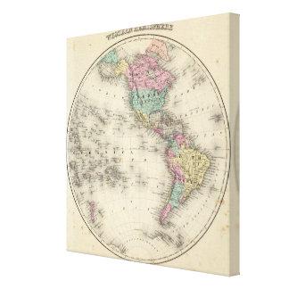 Western Hemisphere 2 Canvas Print