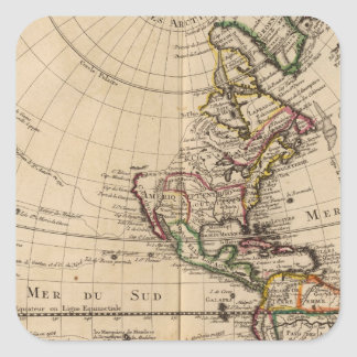 Western Hemisphere 3 Square Sticker
