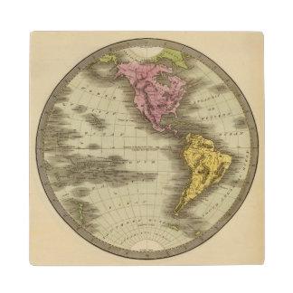 Western Hemisphere 4 Wood Coaster