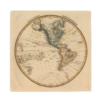 Western Hemisphere 5 2 Wood Coaster