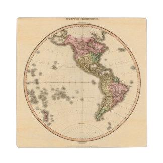 Western Hemisphere 5 Wood Coaster