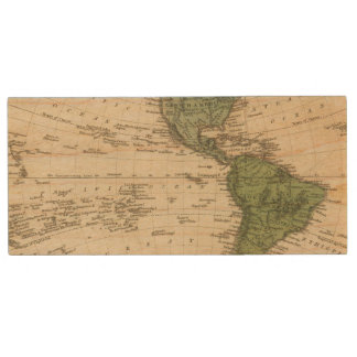 Western Hemisphere 7 Wood USB Flash Drive