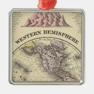 Western Hemisphere 8 Christmas Ornament