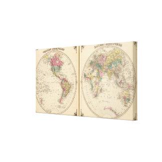 Western Hemisphere and Eastern Hemisphere Canvas Print