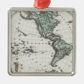 Western Hemisphere Atlas Map Christmas Ornament