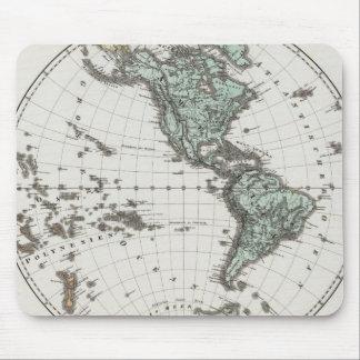 Western Hemisphere Atlas Map Mouse Mat