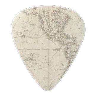 Western Hemisphere Circular Map Acetal Guitar Pick