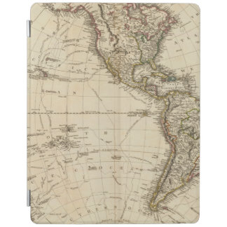 Western Hemisphere Circular Map iPad Cover