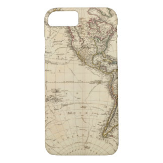 Western Hemisphere Circular Map iPhone 8/7 Case
