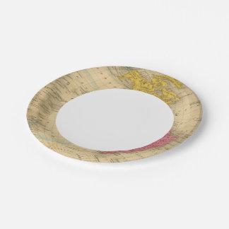 Western Hemisphere Paper Plate