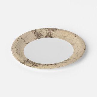 Western Hemisphere, South America Paper Plate