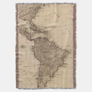 Western Hemisphere, South America Throw Blanket