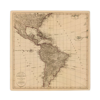 Western Hemisphere, South America Wood Coaster