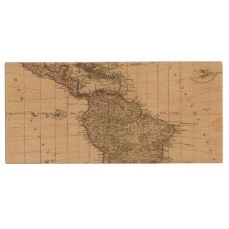 Western Hemisphere, South America Wood USB Flash Drive