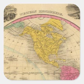 Western Hemisphere Square Sticker