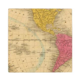 Western Hemisphere Wood Coaster