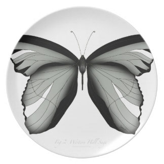Western Hill Sage Butterfly Plate