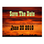 Western Horizon Save The Date Postcard