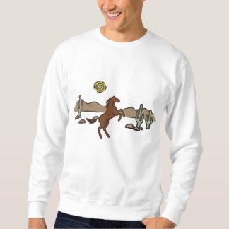 Western Horse Embroidered Sweatshirt