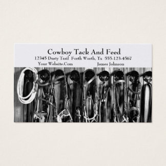 Western Horse Tack Business Card Template