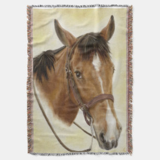 Western Horse Throw Blanket
