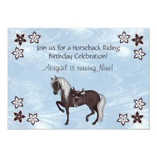 Western Horseback Riding Girls Birthday Invitation