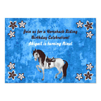 Western Horseback Riding Personalized Birthday 13 Cm X 18 Cm Invitation Card