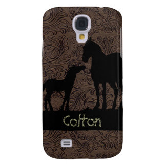 Western Horses Mare Foal 3G/3GS Galaxy S4 Case