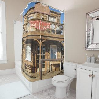 Western Hotel Bath House Western Town Shower Curtain