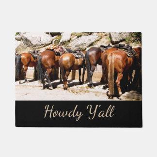 Western Howdy Horse Doormat