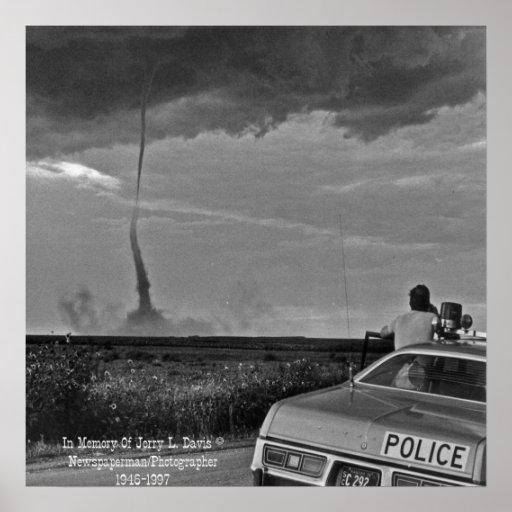 Western Kansas Tornado Poster