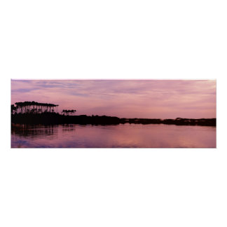 Western Lake in Pink 33 x 11 Poster