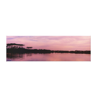 Western Lake in Pink Wrapped Canvas Wall Art