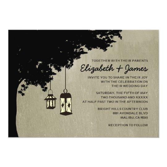 Western Lanterns Wedding Invitations
