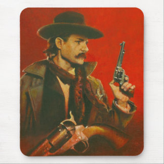 Western Lawman Illustration Mouse Mat