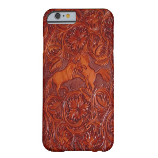 western leather style with mustangs iPhone 6 case