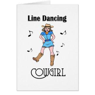 "Western ""Line Dancing Cowgirl"" Card"