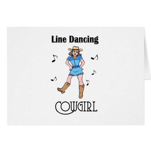 """Western """"Line Dancing Cowgirl"""" Greeting Cards"""
