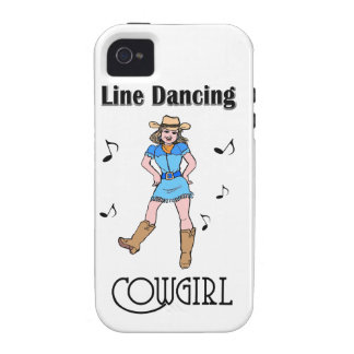 """Western """"Line Dancing Cowgirl"""" Vibe iPhone 4 Cover"""