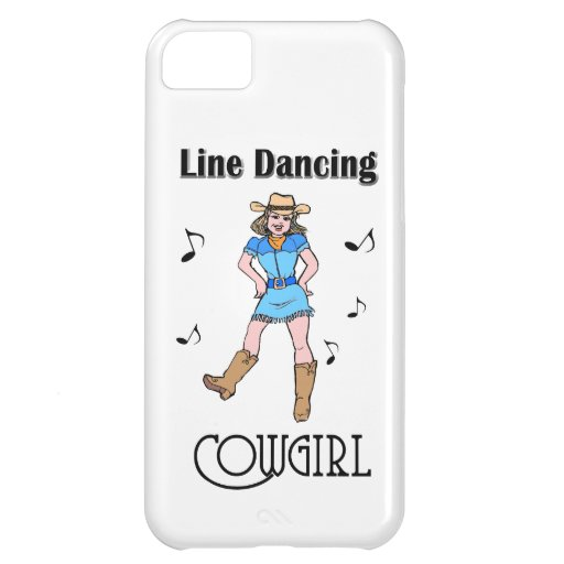 "Western ""Line Dancing Cowgirl"" Case For iPhone 5C"